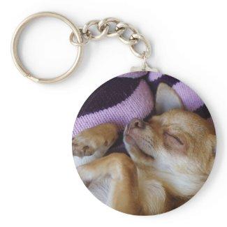 Sleeping Chihuahua Keychain