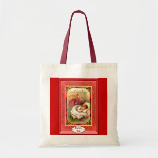 Sleeping child and Santa Tote Bag