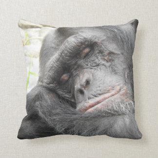 Sleeping Chimpanzee Cushion