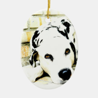 Sleeping Dalmatian Ornaments