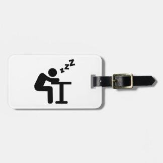 Sleeping desk bag tag