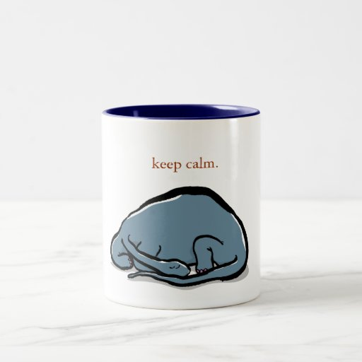 sleeping dinosaur - customizable Two-Tone coffee mug