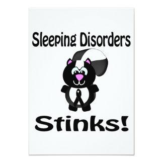 Sleeping Disorders Stinks Skunk Awareness Design Card