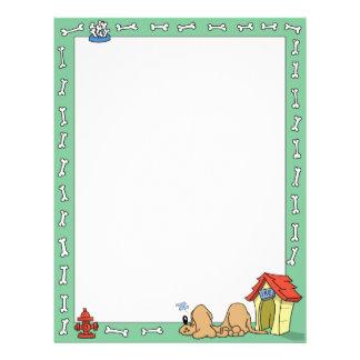 Sleeping Dog and Dog House Letterhead Template