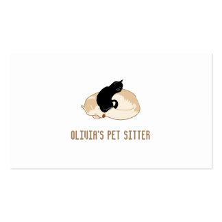 Sleeping Dog & Cat Pet Sitting Service Business Card