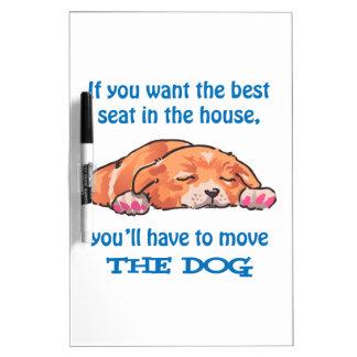 Sleeping Dog Dry Erase Board