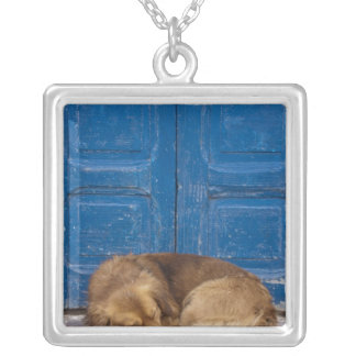 Sleeping dog, Essaouira, Morocco Square Pendant Necklace