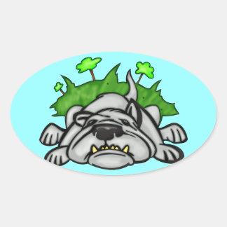 Sleeping Dog Oval Sticker
