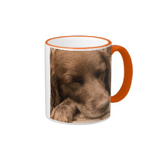 Sleeping Dog Ringer Mug