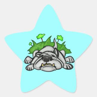 Sleeping Dog Star Sticker