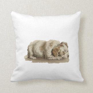 Doggy Throw Pillows : Sleeping Dog Pillows - Decorative & Throw Pillows Zazzle