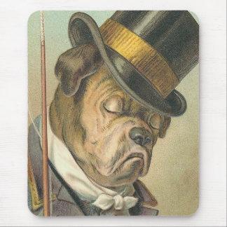 """Sleeping Dog"" Vintage Mouse Pad"