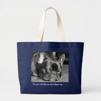 Sleeping Dogs French Bulldog Bag