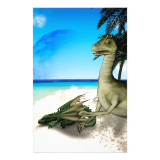 Sleeping dragon and standing tawhak customized stationery