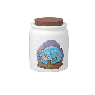 Sleeping Dragon Candy Jar