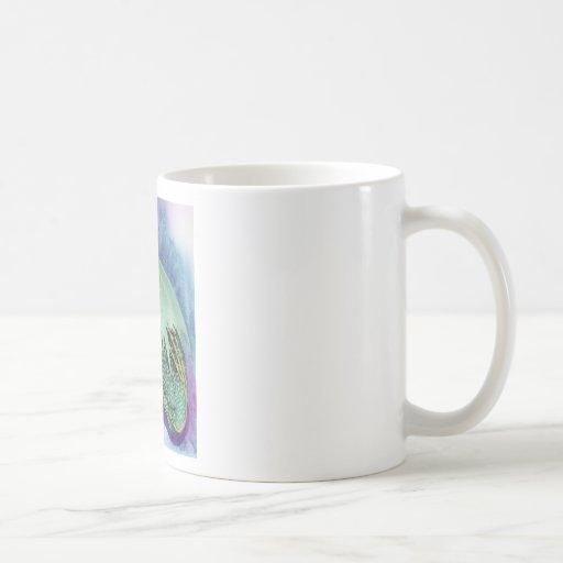 sleeping dragon classic white coffee mug