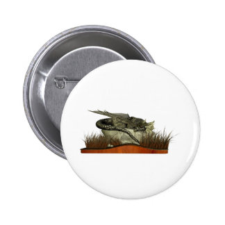 Sleeping Dragon on a Rock 2 Inch Round Button