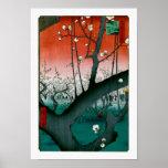 Sleeping Dragon Plum, Kameido Hiroshige Fine Art Poster