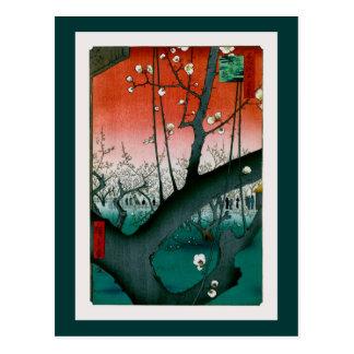 Sleeping Dragon Plum Kameido Vintage Japanese Postcard