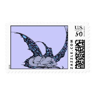 Sleeping Dragonette (Blue) Postage Stamps