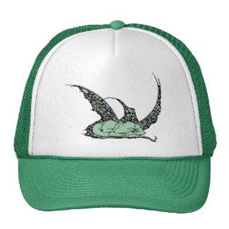 Sleeping Dragonette (Green) Caps Trucker Hats