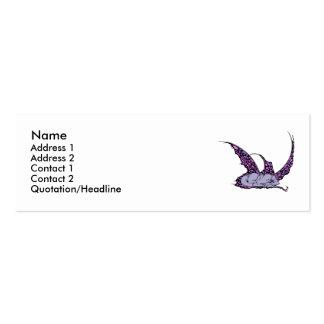 Sleeping Dragonette (Purple) Profile Cards Business Card Template
