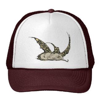 Sleeping Dragonette (Yellow) Caps Trucker Hat