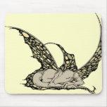 Sleeping Dragonette (Yellow) Mousepad