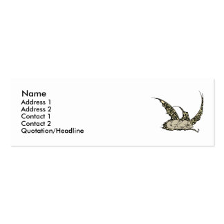 Sleeping Dragonette (Yellow) Profile Cards Business Cards
