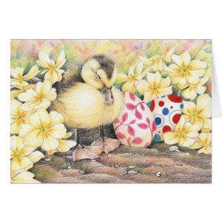 Sleeping Ducky Easter Cards
