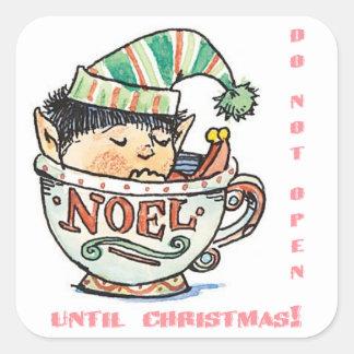 Sleeping Elf Do Not Open Until Christmas Sticker