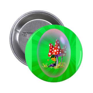 SLEEPING ELF & LIGHT RAYS by SHARON SHARPE Pinback Button