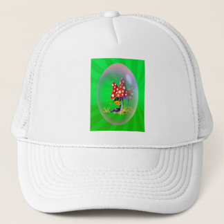 SLEEPING ELF & LIGHT RAYS by SHARON SHARPE Trucker Hat