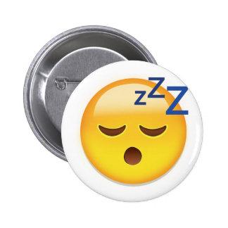 Sleeping Face Emoji Pinback Button
