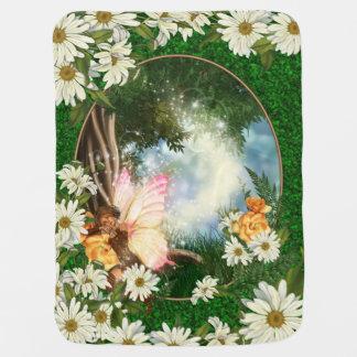 Sleeping Fairy Daisy Garden  Baby Blanket