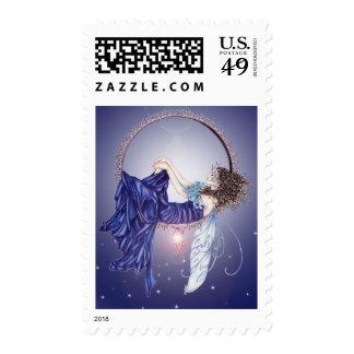 Sleeping Fairy Postage Stamp