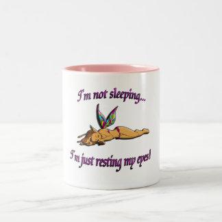 Sleeping Fairy Two-Tone Coffee Mug