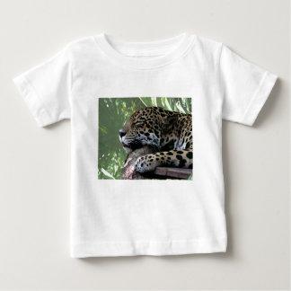 Sleeping Florida jaguar , light green frond back Baby T-Shirt