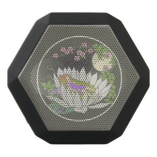 Sleeping Flower Fairy Moonlight Stars Black Bluetooth Speaker