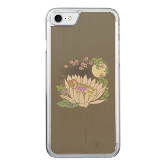 Sleeping Flower Fairy Moonlight Stars Carved iPhone 7 Case