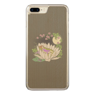 Sleeping Flower Fairy Moonlight Stars Carved iPhone 7 Plus Case