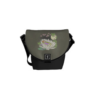 Sleeping Flower Fairy Moonlight Stars Courier Bag