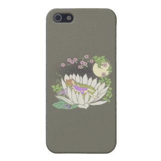 Sleeping Flower Fairy Moonlight Stars Cover For iPhone SE/5/5s
