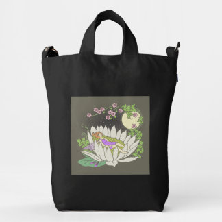 Sleeping Flower Fairy Moonlight Stars Duck Bag