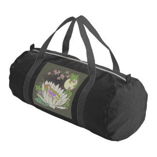 Sleeping Flower Fairy Moonlight Stars Duffle Bag