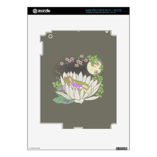 Sleeping Flower Fairy Moonlight Stars iPad 3 Decals