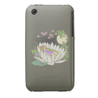 Sleeping Flower Fairy Moonlight Stars iPhone 3 Cases