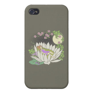 Sleeping Flower Fairy Moonlight Stars iPhone 4/4S Cover