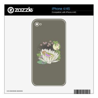 Sleeping Flower Fairy Moonlight Stars iPhone 4 Skin