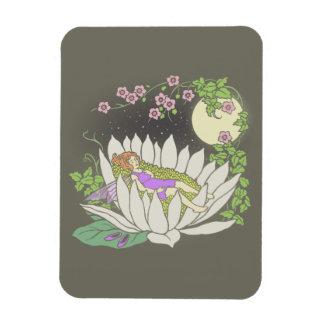 Sleeping Flower Fairy Moonlight Stars Magnet